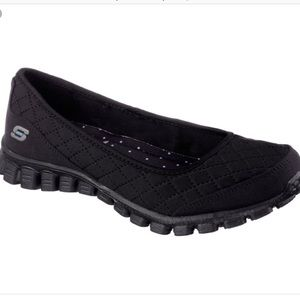 Skechers EZ Flex Memory Foam Black Slip On Sneaker